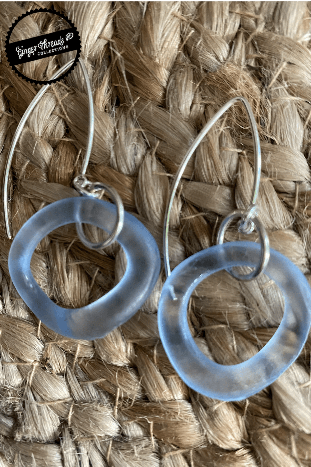 Ginger Threads Collections earrings Recycled Glass Wave Earrings