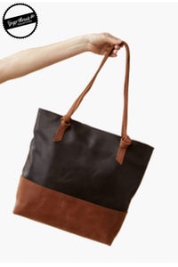 Ginger Threads Collections handbag Black and Whiskey Tote