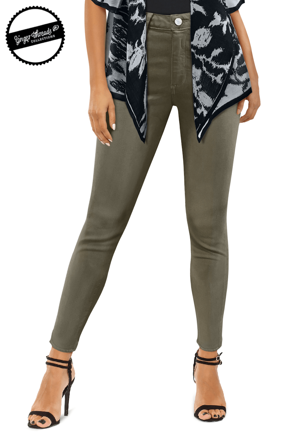 Ginger Threads Collections jeans Sage Cropped Mid-Rise Jeans