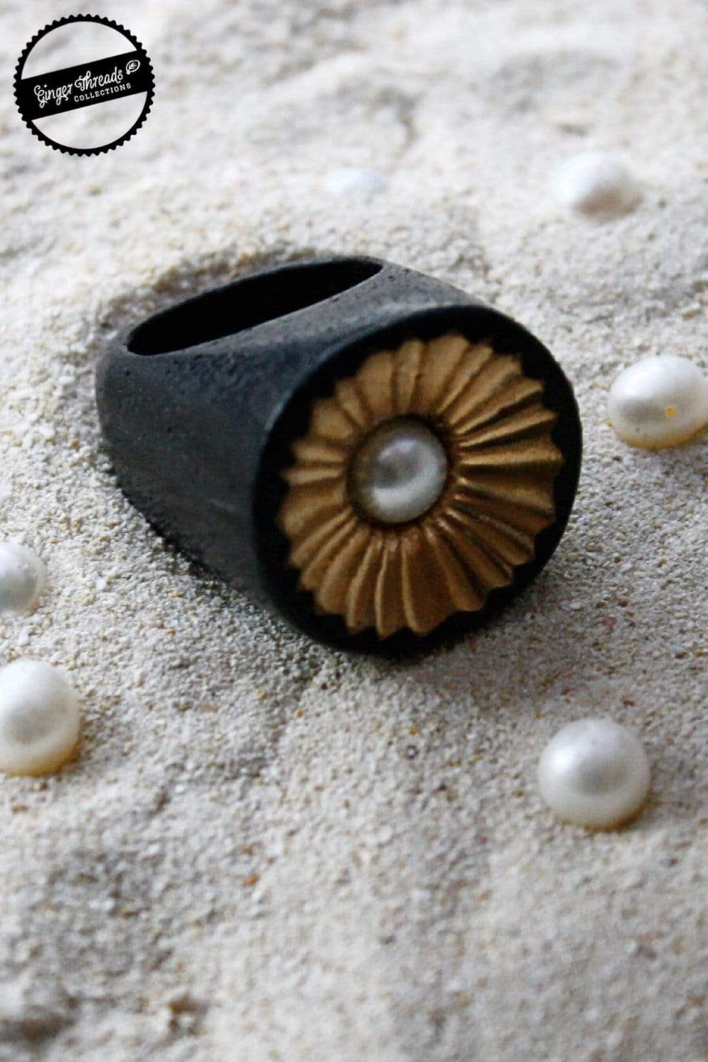 Ginger Threads Collections Limpet Statement Ring