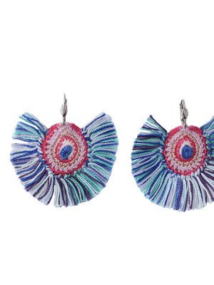 Ginger Threads Collections necklace Embroidered Earring