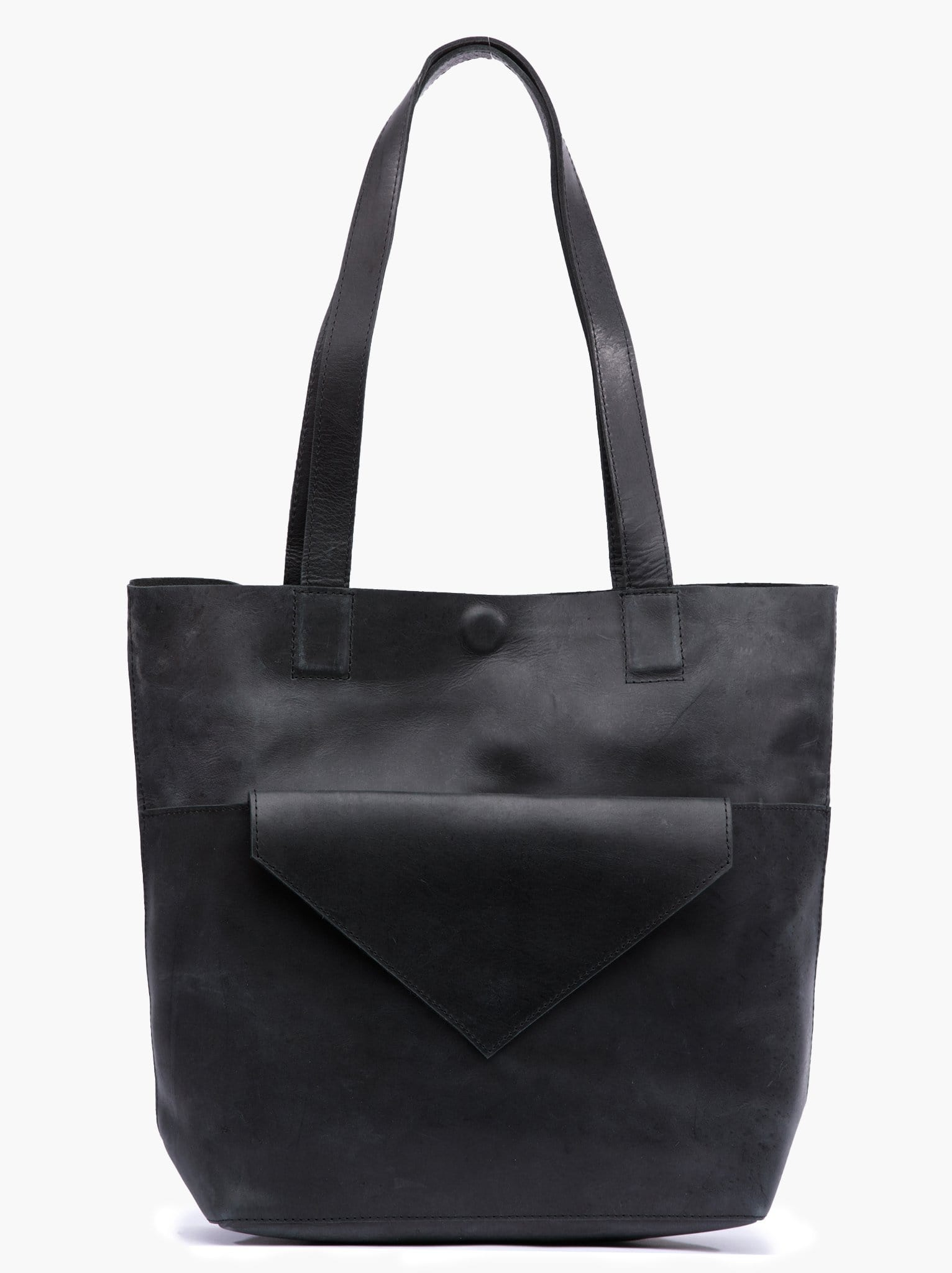 Ginger Threads Collections purse Black Leather Tote