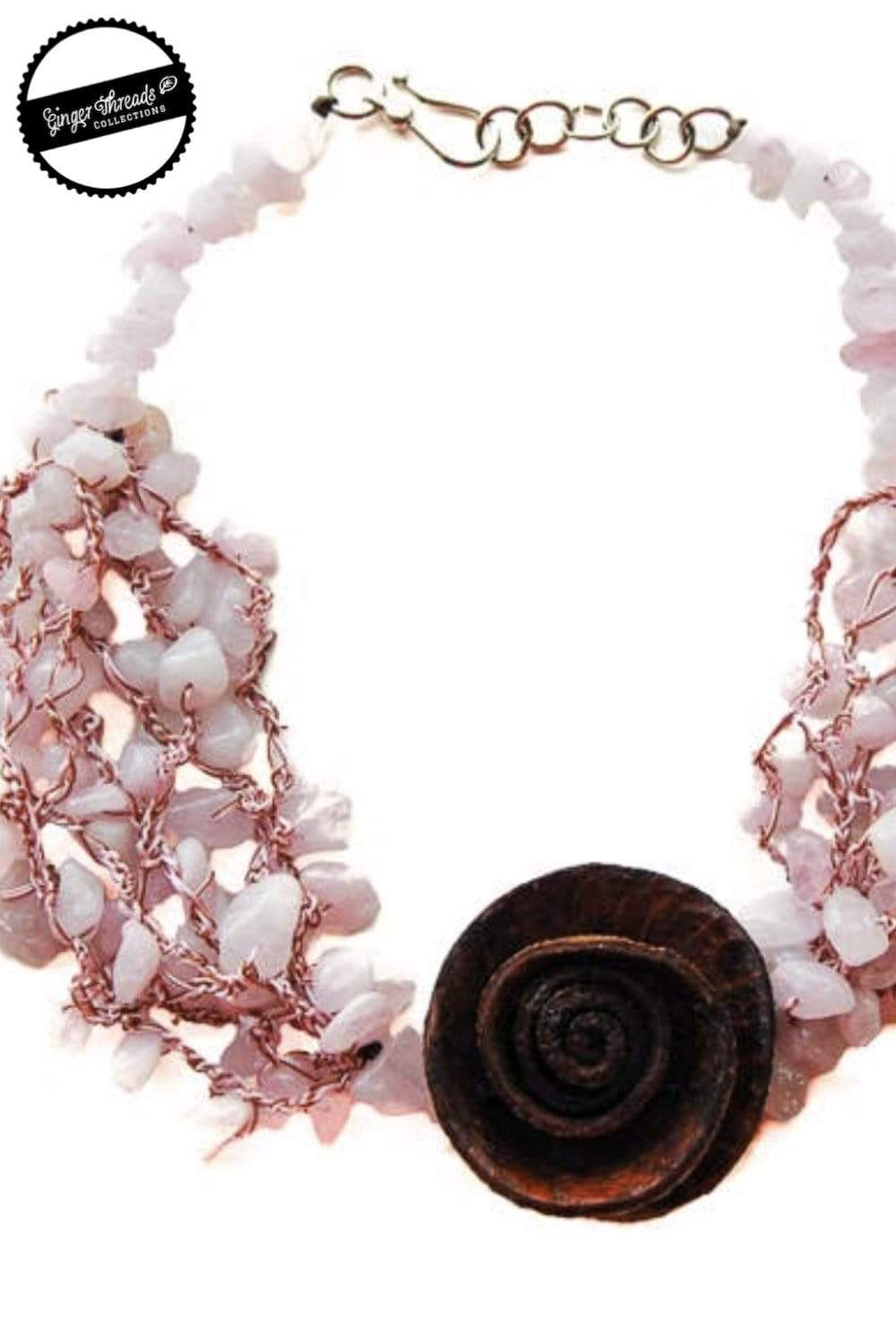 Ginger Threads Collections Rose Quartz Necklace