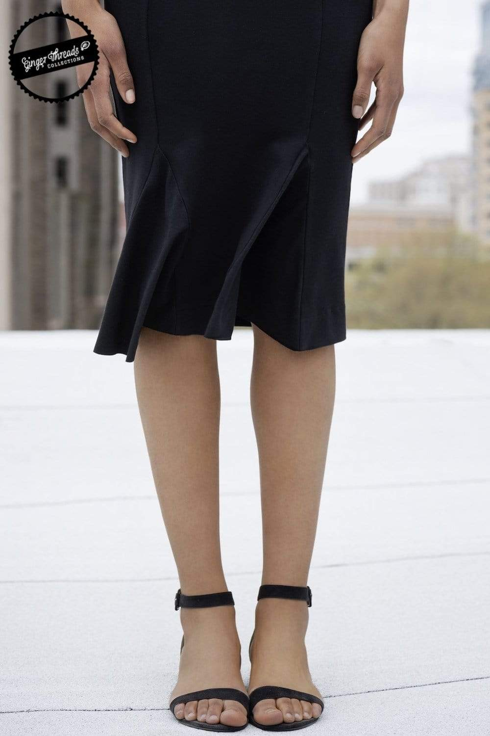 Ginger Threads Collections skirt Black pencil skirt