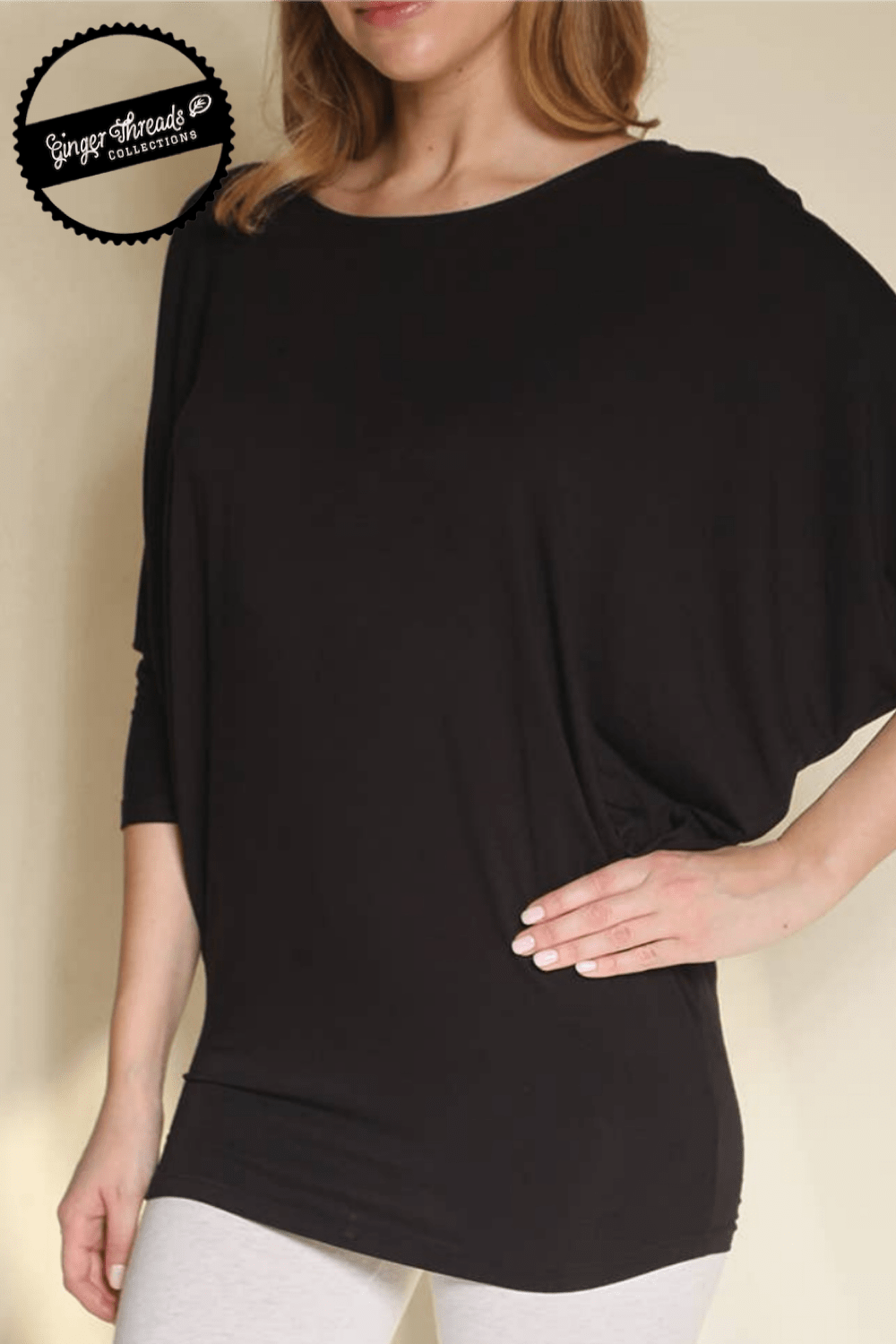Ginger Threads Collections top Black Bamboo Dolman