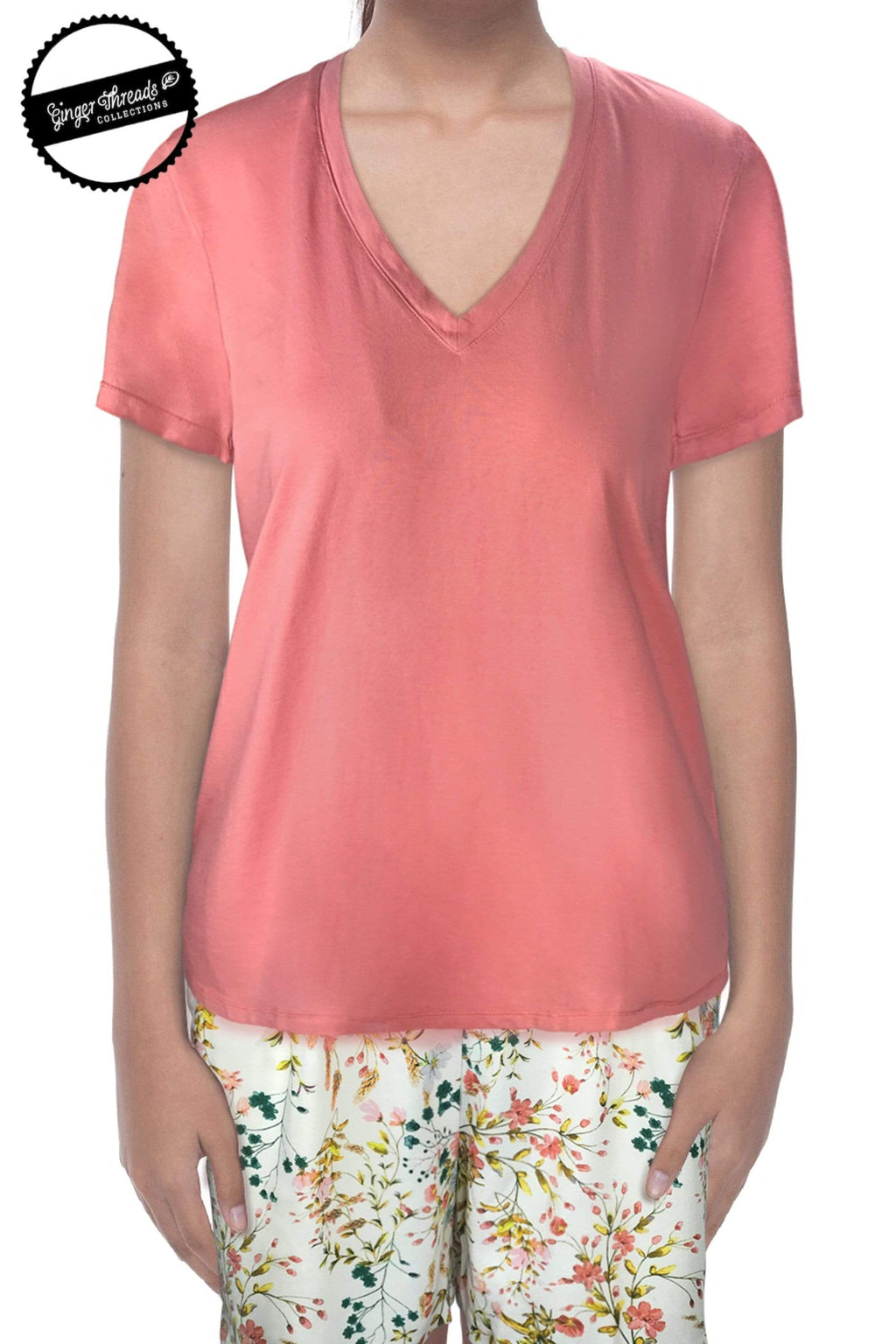 Ginger Threads Collections top Burnt Coral T-shirt