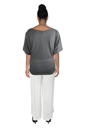 Ginger Threads Collections top Gray tunic