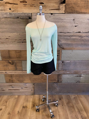 Ginger Threads Collections top Mint Top