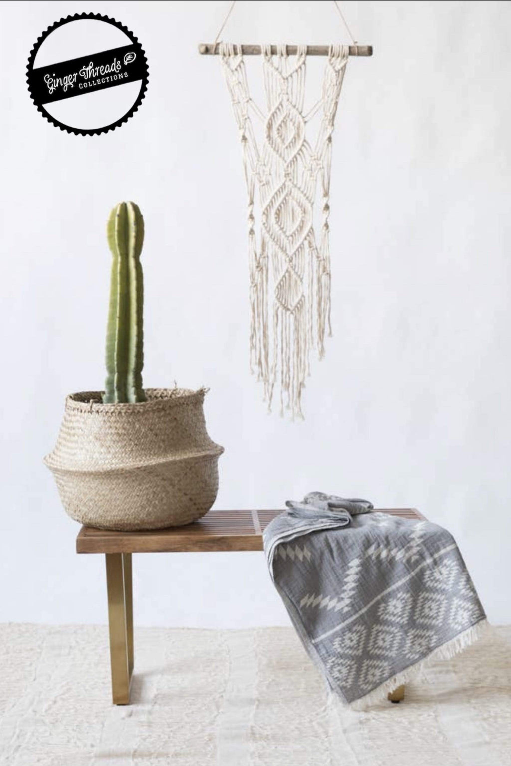 Ginger Threads Collections Turkish Towels Grey Turkish Towel