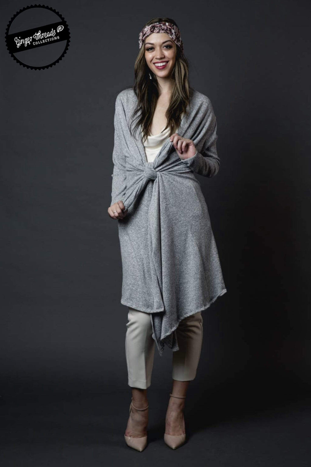 Ginger Threads Collections Grey Yoga Duster