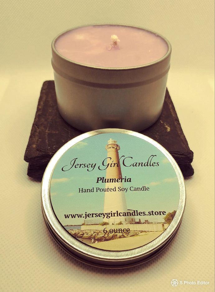 Plumeria Soy Candle - Jersey Girl Candles