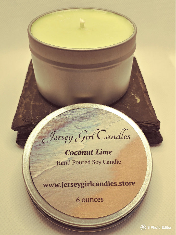 Coconut Lime Soy Candle - Jersey Girl Candles