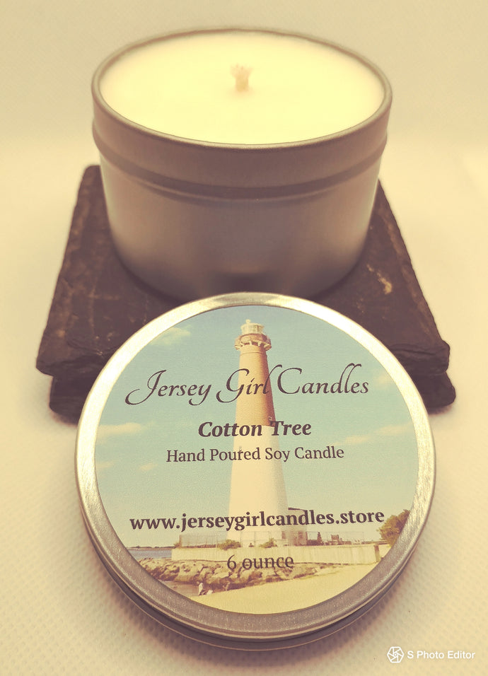 Cotton Tree Soy Candle - Jersey Girl Candles