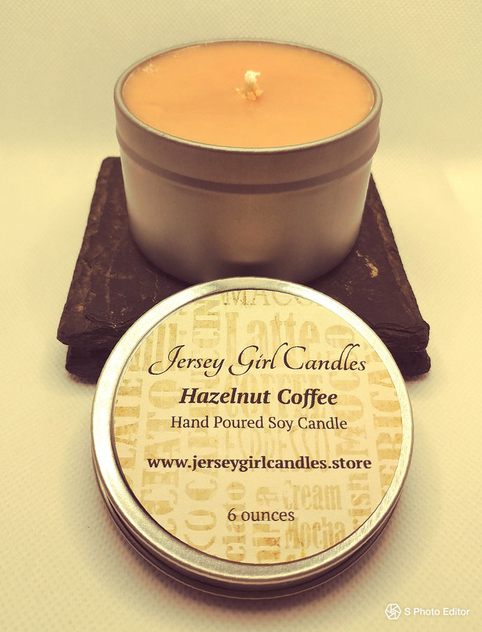 Hazelnut Coffee Soy Candle - Jersey Girl Candles
