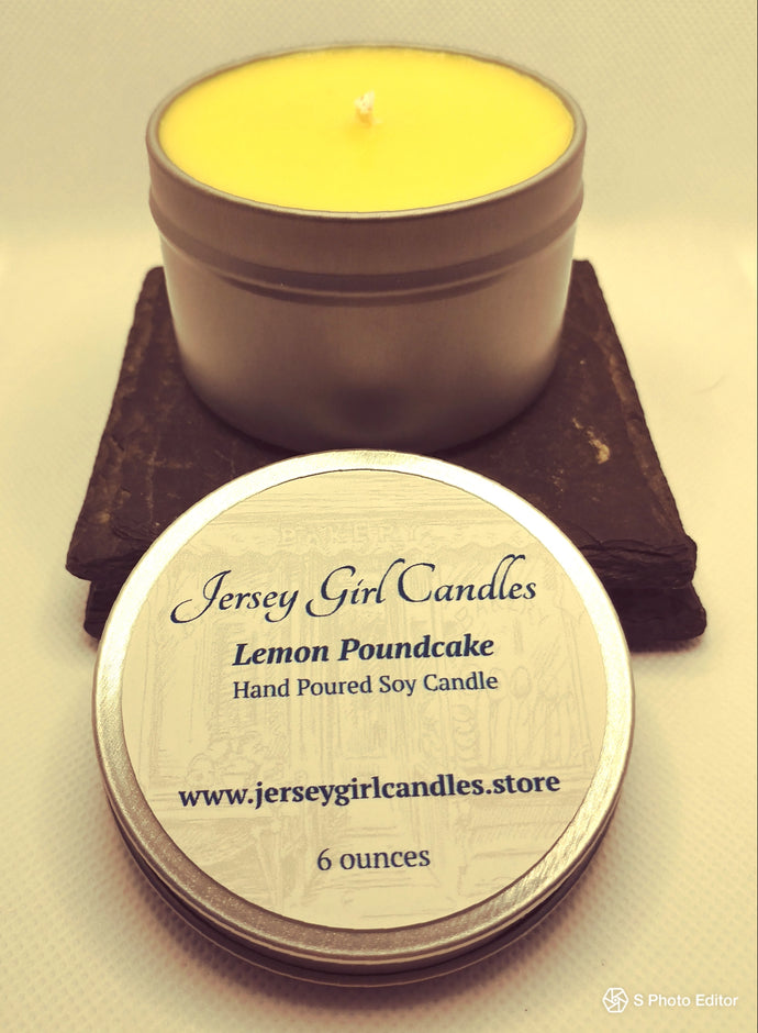 Lemon Pound Cake Soy Candle - Jersey Girl Candles
