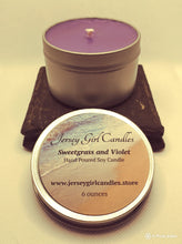 Load image into Gallery viewer, Sweetgrass and Violet Soy Candle - Jersey Girl Candles