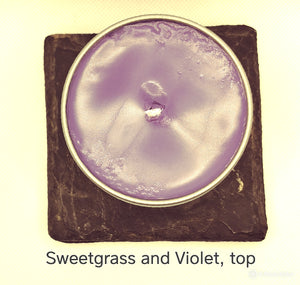 Sweetgrass and Violet Soy Candle - Jersey Girl Candles