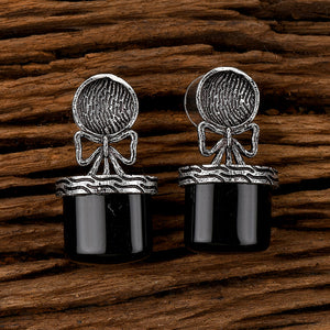 Indo Western Trendy Earring with Oxidised Plating