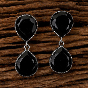 Indo Western Classic Earring with Oxidised Plating