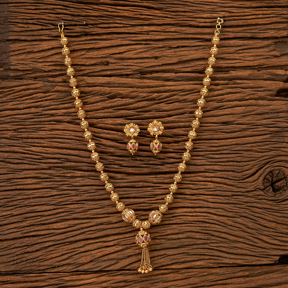 Antique Mala Necklace with gold plating