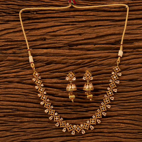 Antique Style Necklace with gold plating