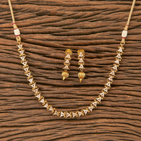 Antique Delicate Necklace with gold plating