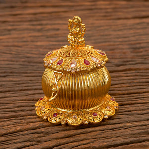 Antique Style Sindoor Box With Gold Plating