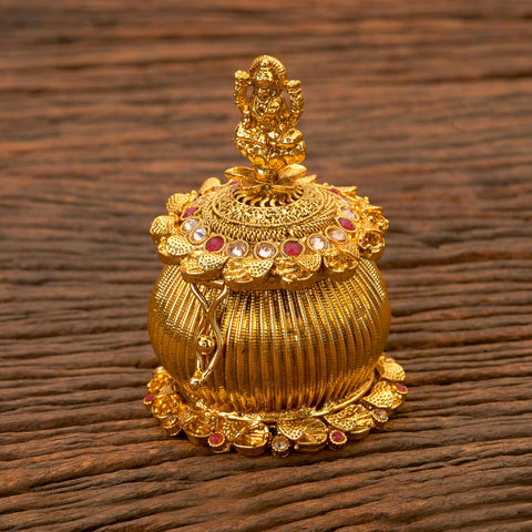 Antique Classic Sindoor Box With Gold Plating