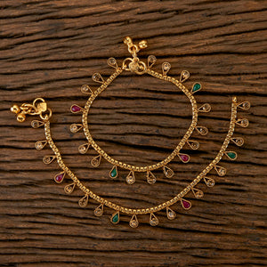 Antique Style Baby Payal with Gold Plating