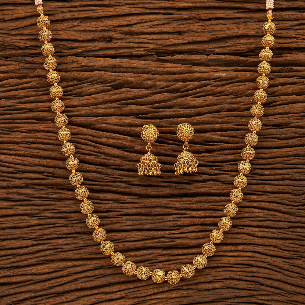 Antique Style Mala Necklace with gold plating