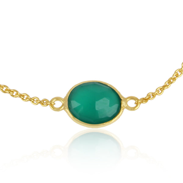 925 Silver Bracelet With Green Aventurine