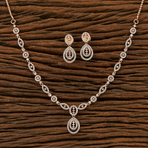 Cz Delicate Necklace with rose gold plating