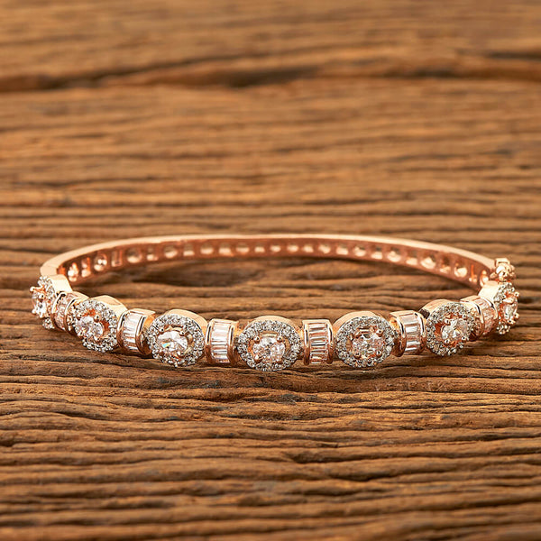 Cz Classic Kada with Rose gold plating