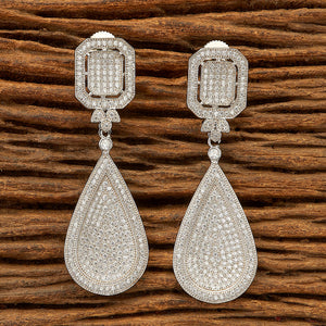 Cubic zirconia Earring with Rhodium plating