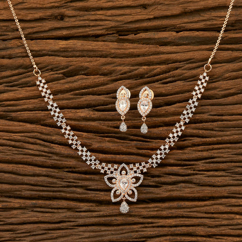 Cubic zirconia Necklace with Rose Gold plating