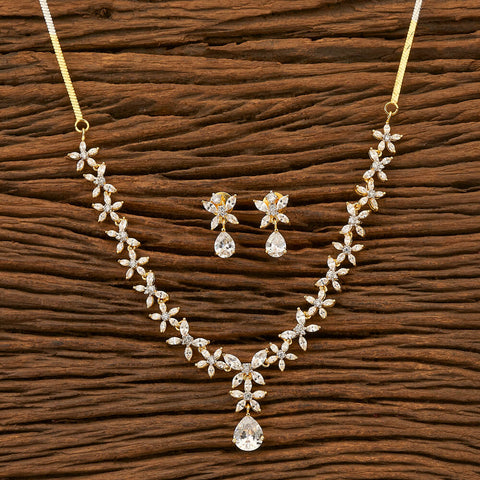 Cz Classic Necklace with 2 Tone plating