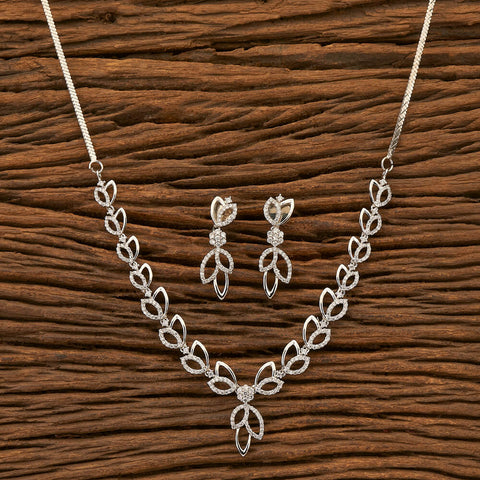 Cubic zirconia Necklace with Rhodium plating