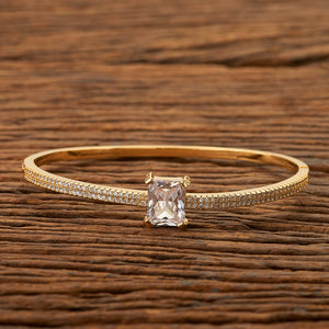 Cubic zirconia Delicate Kada with gold plating