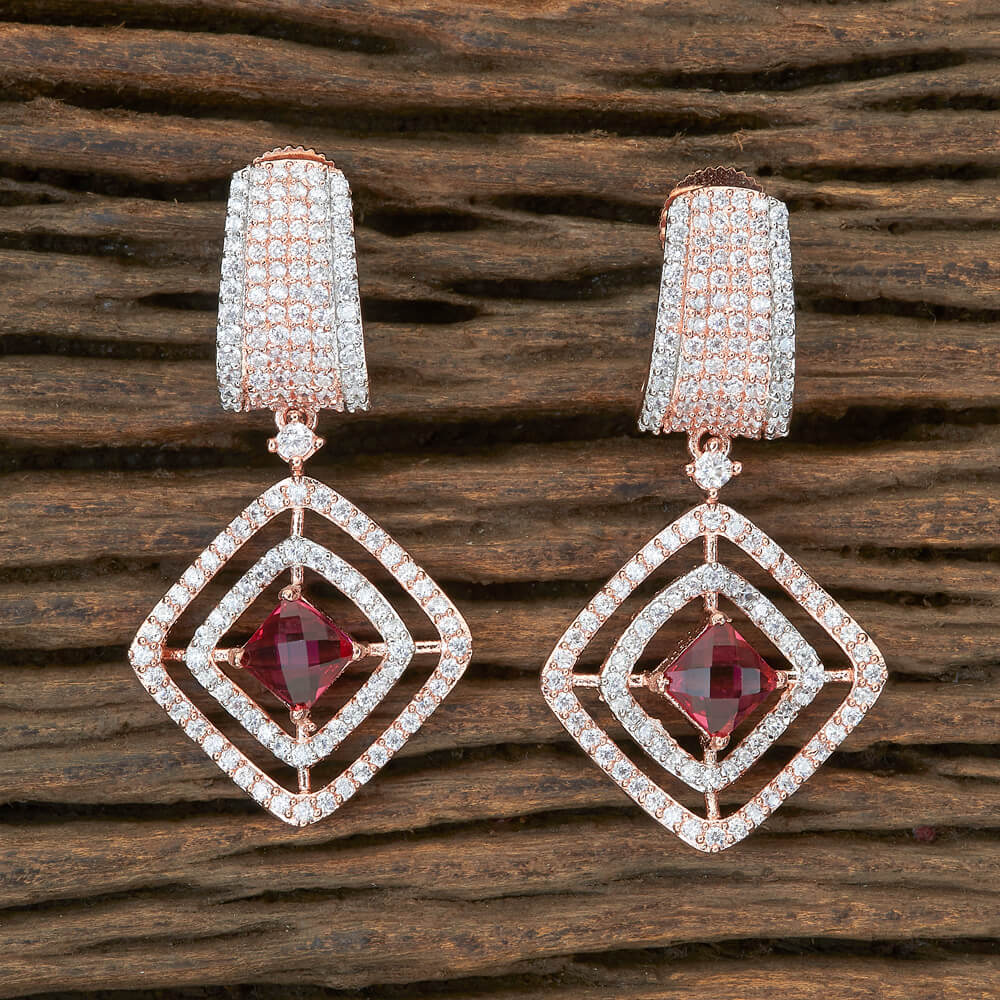 Cubic zirconia Classic Earring with Rose Gold plating