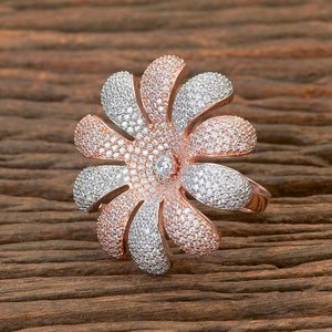 Cubic zirconia Ring with Rose Gold plating