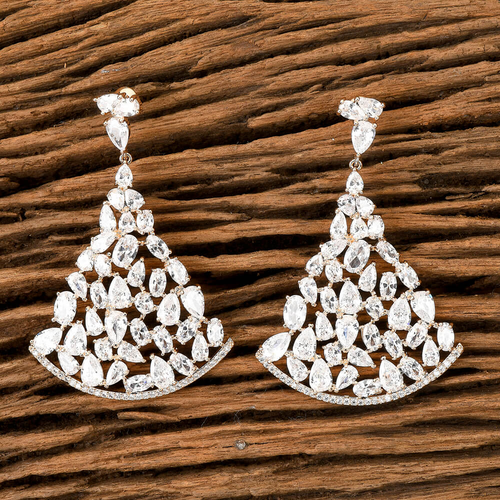 Cubic zirconia Classic Earring With Gold Plating