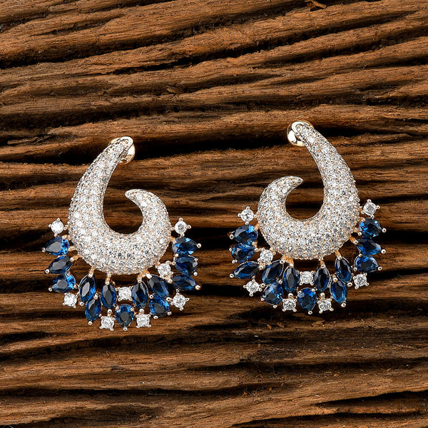 Cubic zirconia Chand Earring With Gold Plating