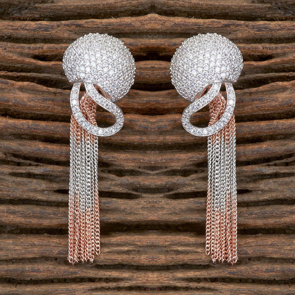 Cubic zirconia Earring With Rose Gold Plating