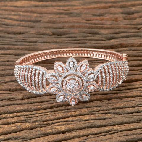 Designer Bracelet With Zirconia Stone and Rose Gold Plating