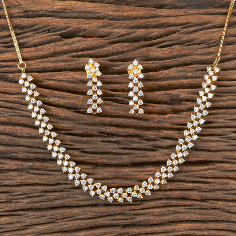 Cubic zirconia Necklace With Gold Plating