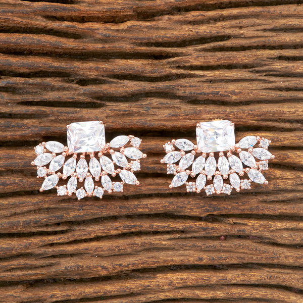Cubic zirconia Tops With Rose Gold Plating