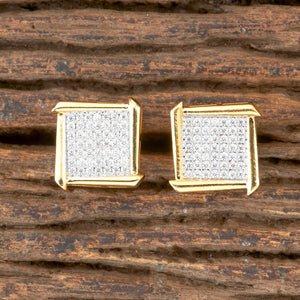 Cubic zirconia Earrings With gold Plating