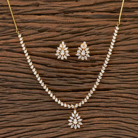 Cz Classic Necklace With Gold Plating