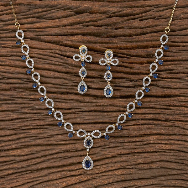 Cubic Zirconia Classic Necklace With Gold Plating