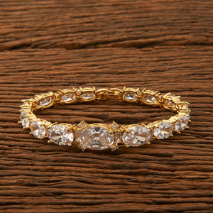 Cubic Zirconia Classic Bracelet with gold plating